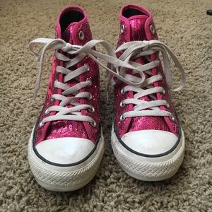Hot Pink Sequin CONVERSE Chuck Taylor All Star